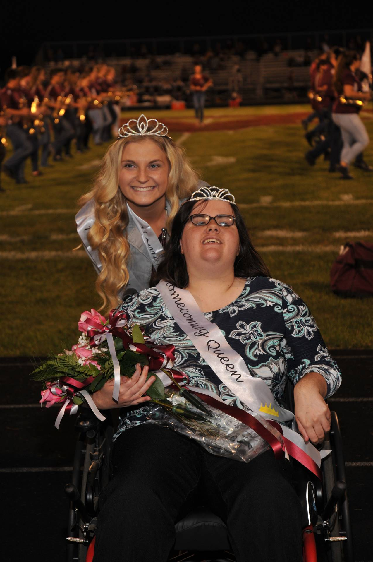 2016 Homecoming Queen Shannon Rogers and 2017 Queen Kelsey Ward