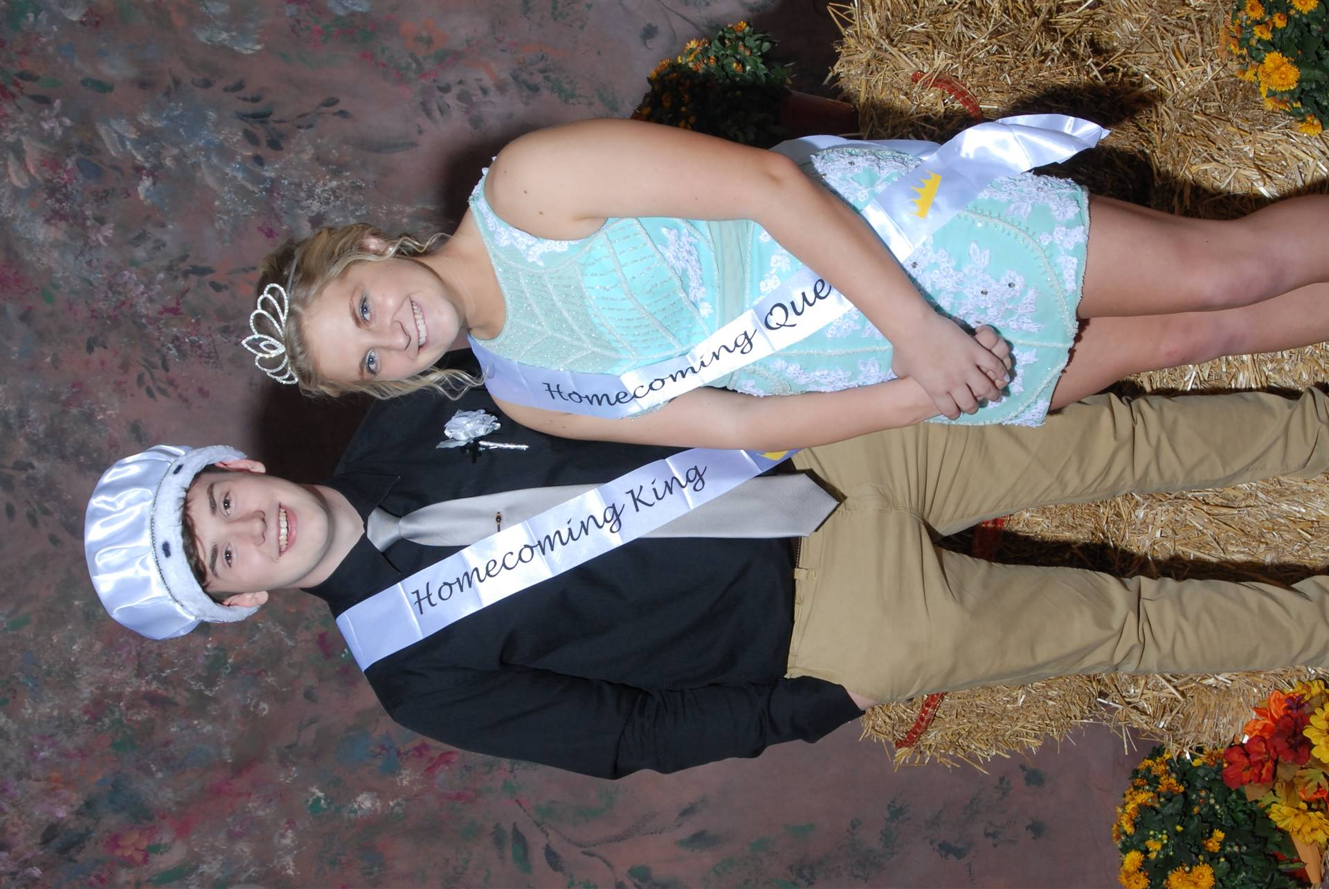 Homecoming Queen Kelsey Ward and King Cameron Poe