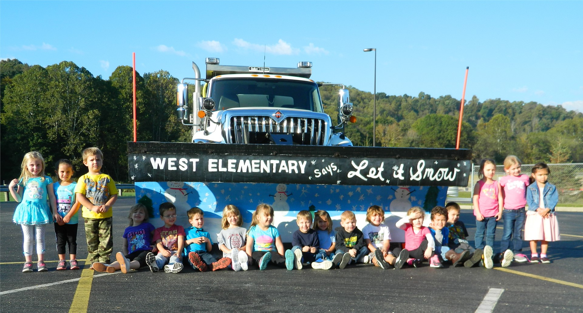 West Elementary Snow Plow with PreSchool