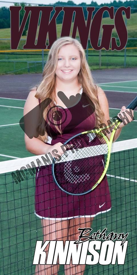 Bethany Kinnison - VCHS Senior - Tennis