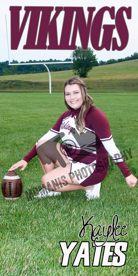 Kaylee Yates - VCHS Senior - Cheerleading
