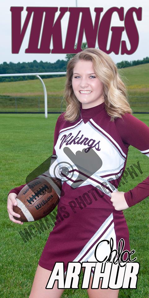 Chloe Arthur - VCHS Senior - Cheerleading