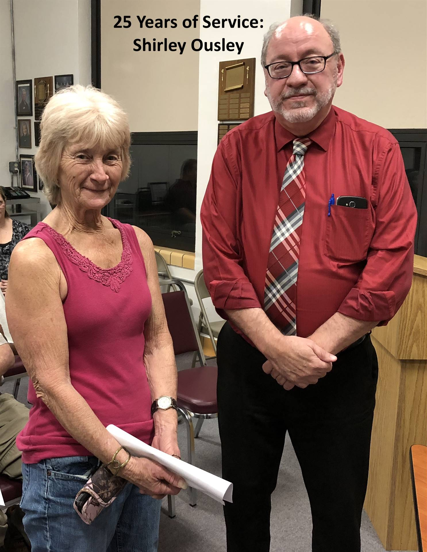 25 Years of Service:  Shirley Ousley