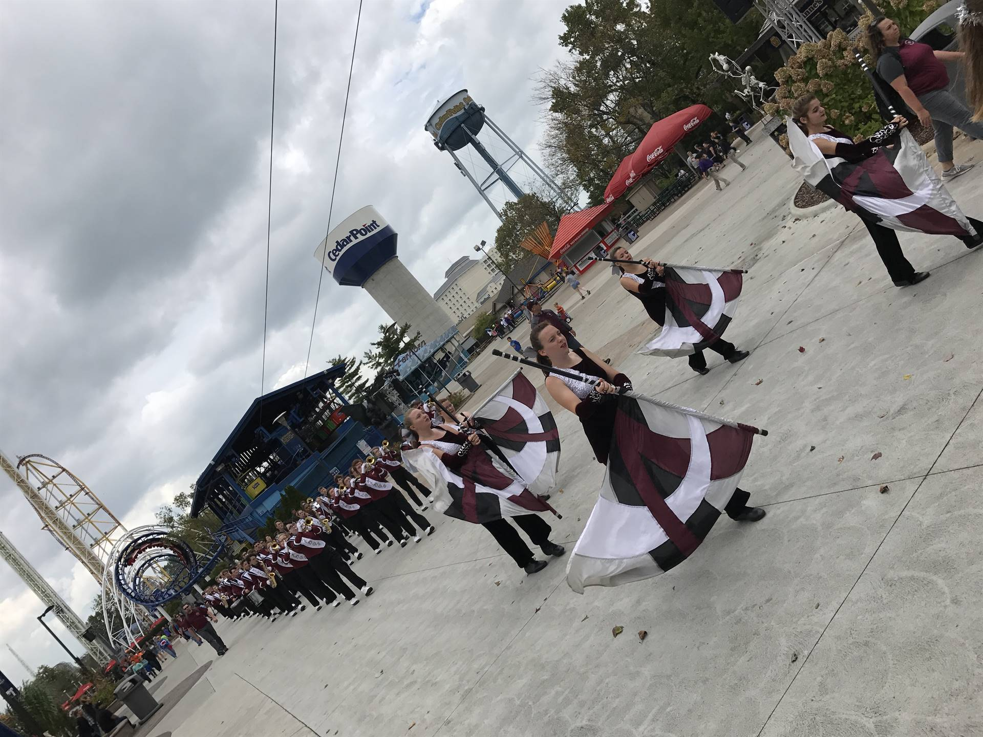 2017/2018 Marching Band at Cedar Point
