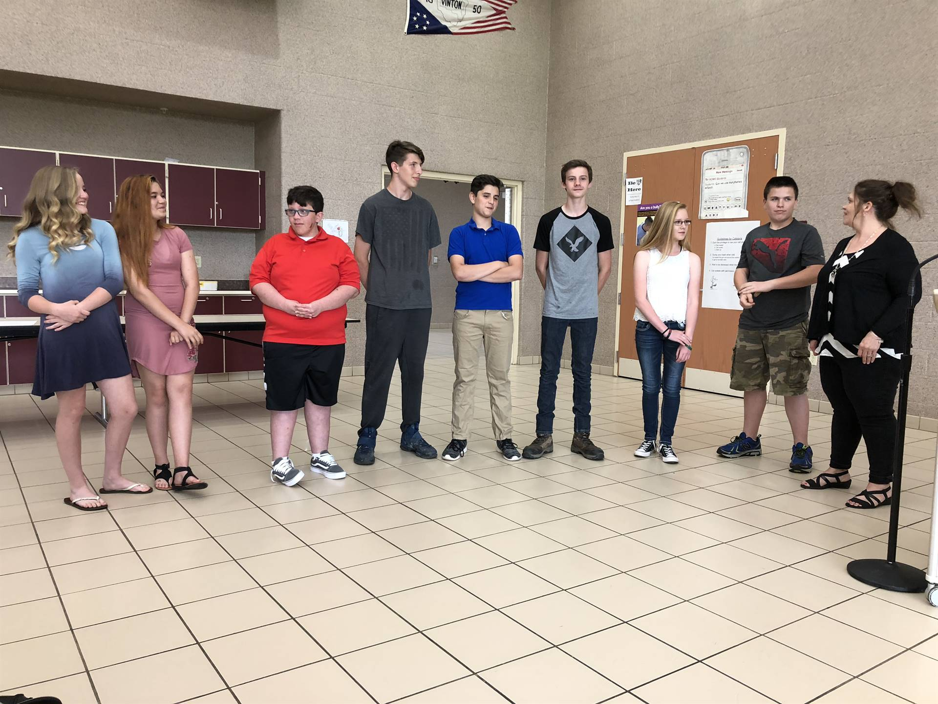 Middle School Group Recongitions
